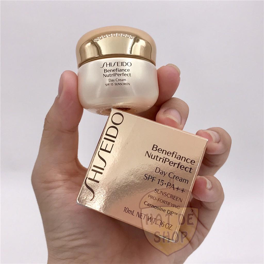 Shiseido Kem Dưỡng Ngày Toàn Diện Benefiance Nutriperfect Day Cream SPF 15 10ml-Hàng Chính hãng