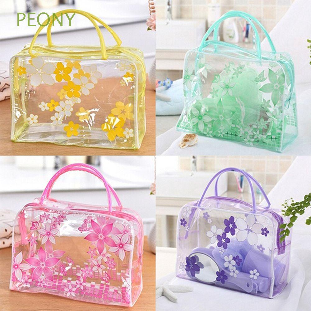 Fashion Portable Clear Transparent Waterproof Wash Toiletry PVC Bag