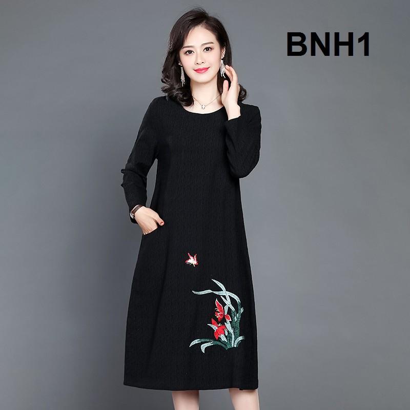 Đầm Trung Niên Hoa Văn Cao Cấp BNH