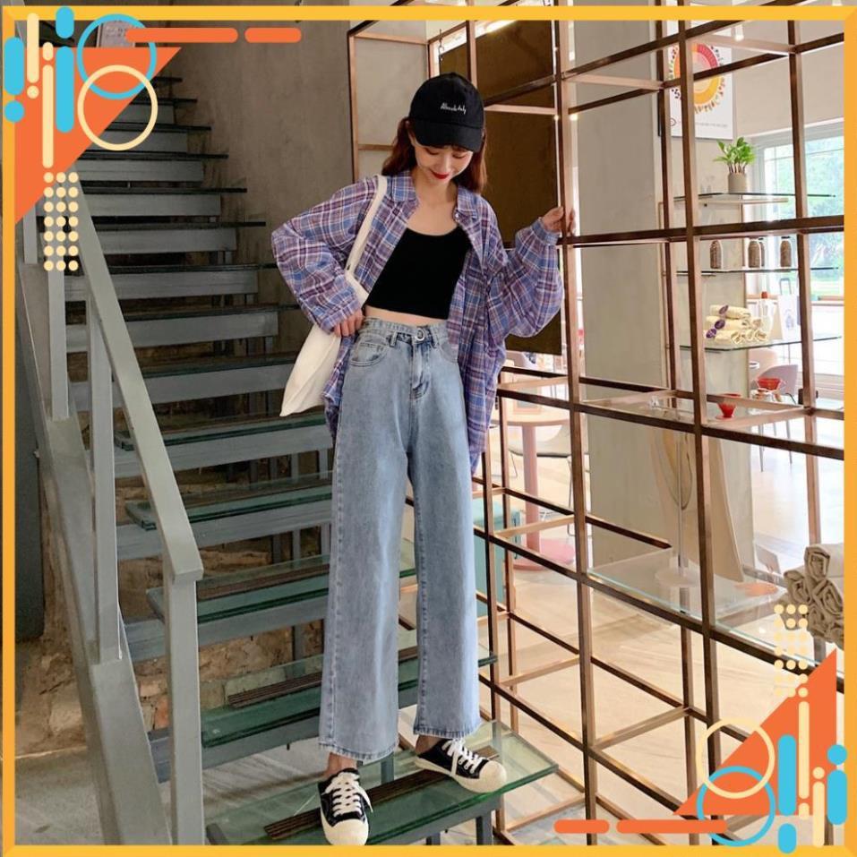 [SẴN] Quần jeans nữ ống rộng Ulzzang Quảng Châu QD44
