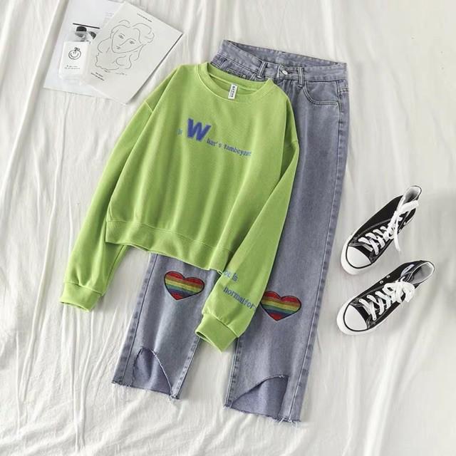 <ORDER_ẢNH THẬT> Set áo nỉ + quần jeans rách gấu (có bán rời)
