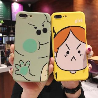 COD IPHONE 6 Plus 6s 8 7 Plus X XS XR XS Max cute girl and cute dinosaur protection phone 739