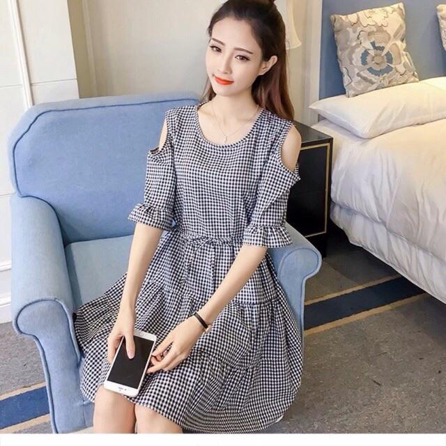 Đầm hot girl trễ vai, đầm xinh, đầm đẹp, đầm Nữ Thời Trang follow shop săn deal rẻ