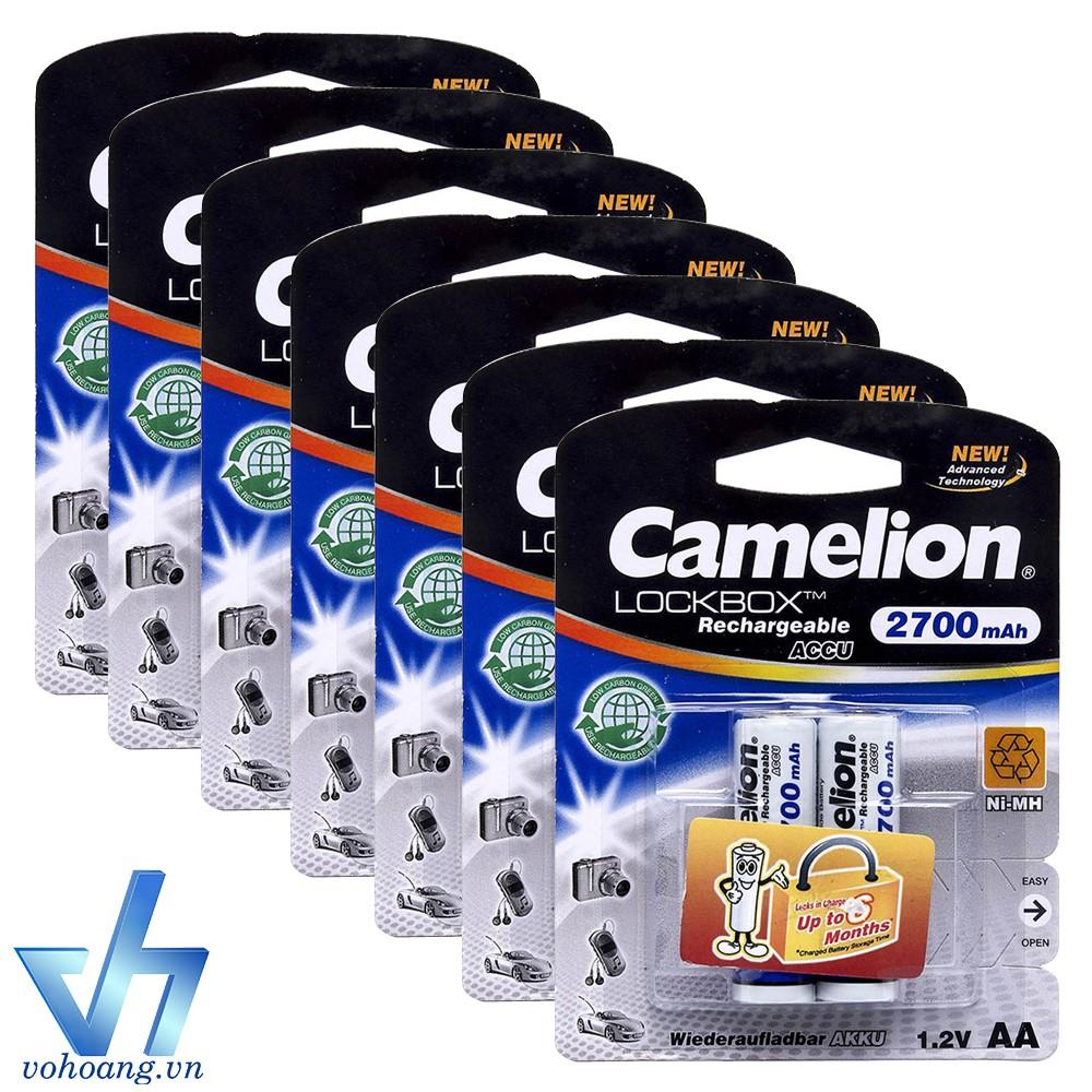 Bộ 14 pin sạc AA Camelion 2700mAh (Trắng)