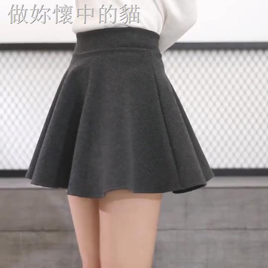 Chân Váy Len Dày Dáng Chữ A Lưng Cao Xếp Ly Xinh Xắn Cho Nữ