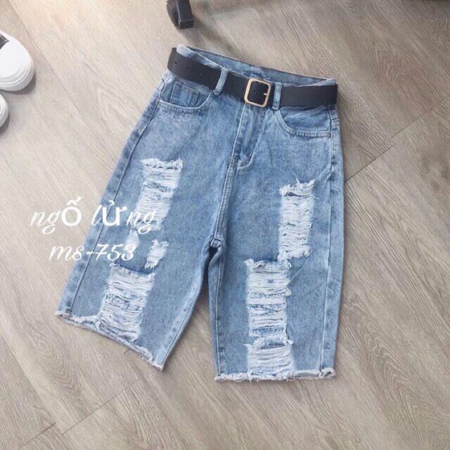 ✨ Quần Jeans Ngố Rách Nhiều