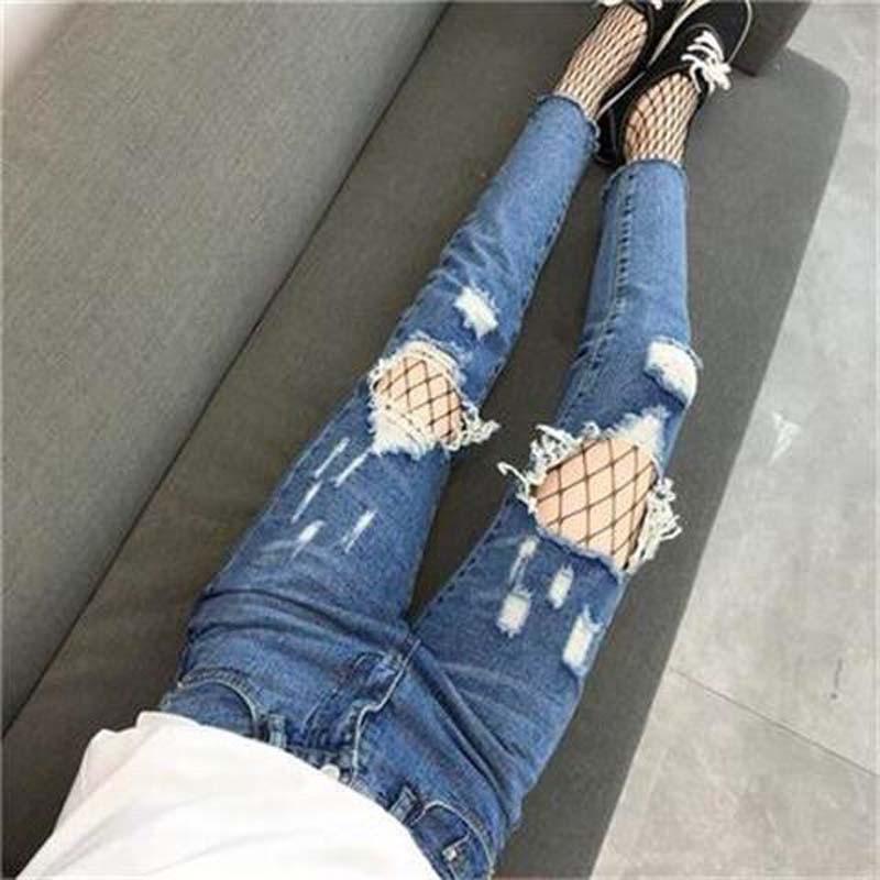 Quần Nữ, quần jeans skinny rách , MY2013