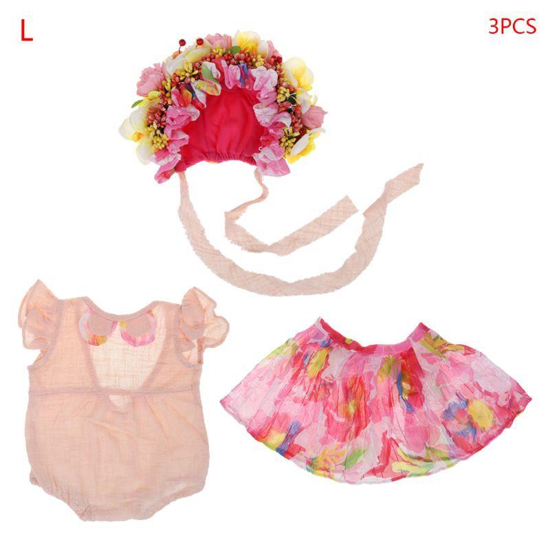 Set quần yếm + Chân váy xòe dễ thương cho trẻ sơ sinh