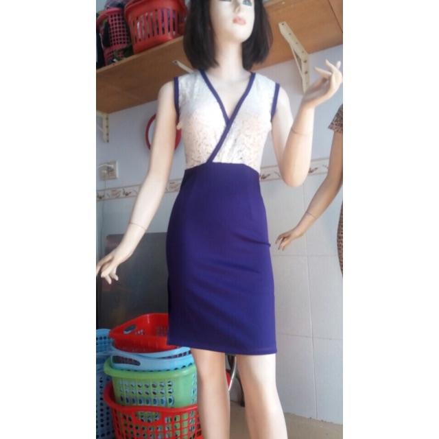 Đầm ôm đắp chéo