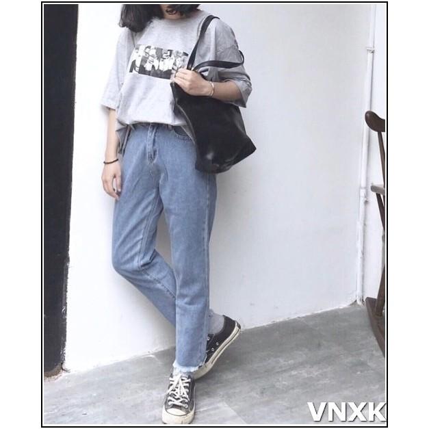 Quần jean nữ BAGGY TUA LAI màu xanh nhạt 3.38b-1