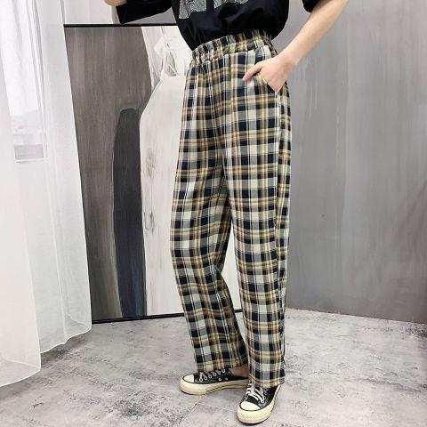 Chân Váy Caro Lưng Thun Phong Cách Retro Gw 6503 Cho Nữ