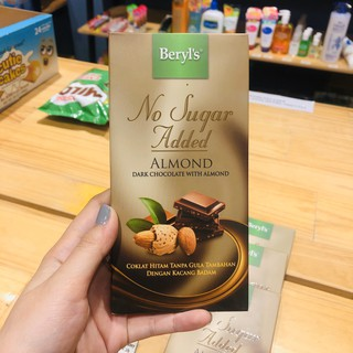 Hình ảnh Chocolate Beryl's Milk Almond No Added Sugar 85g