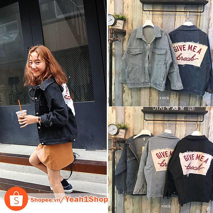 [Yeah1Shop]- Áo khoác Jeans 49 (Freesize)