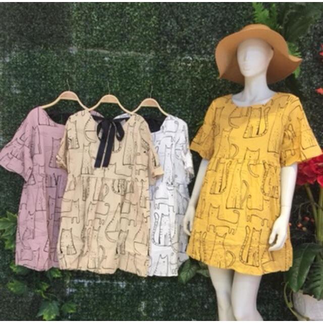Váy bbd thô dáng rộng