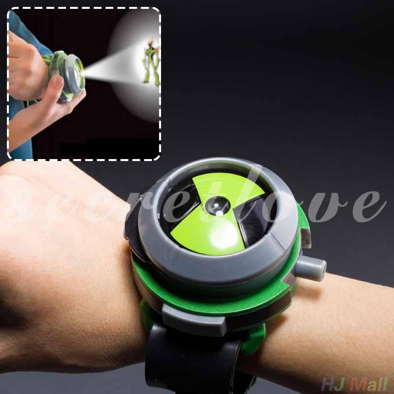 Bandai Ben10 Projector Watch Cartoon Watches Ben 10 Projector Gifts Kids