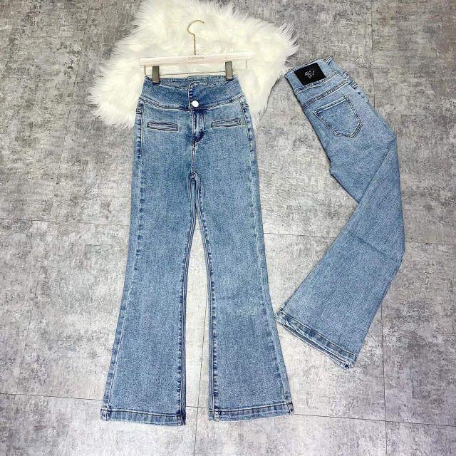 Quần jeans vẩy cạp cao hack eo BCi