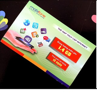 Thẻ data 3g mobifone online loại 1,4Gb