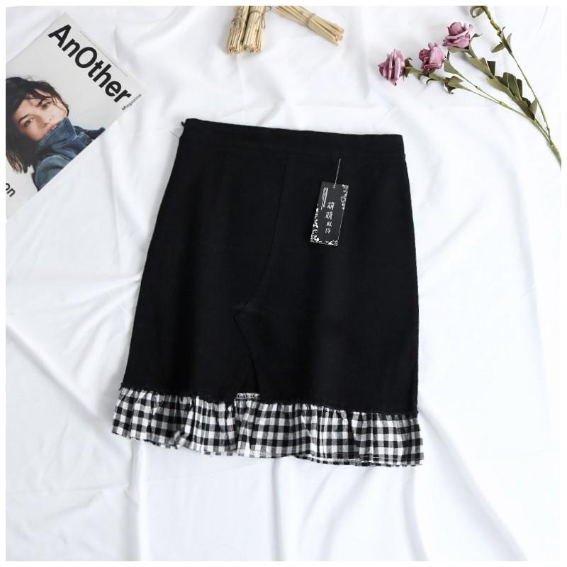 Chân váy body 3 màu đen - trắng - xanh đậm