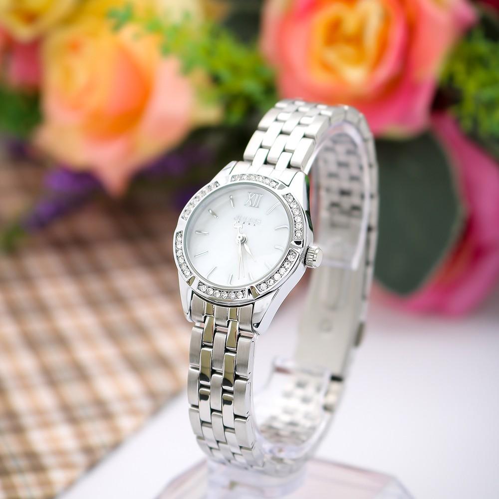 Đồng hồ nữ Julius Ja730 dây thép (trắng bạc)