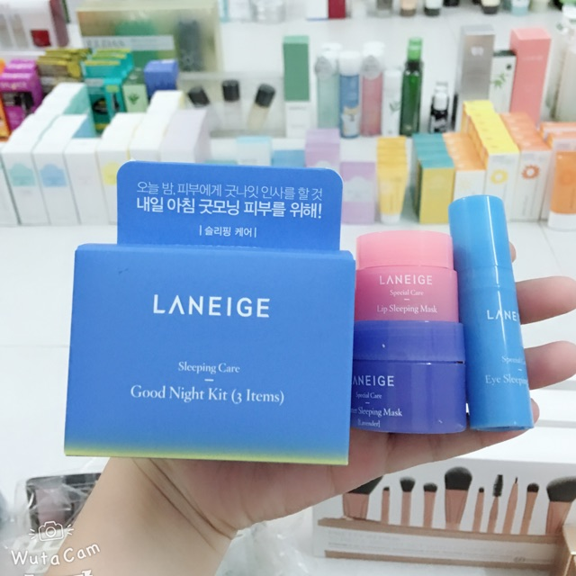 Hình ảnh Kit mặt nạ ngủ Laneige Sleeping Care Good Night Kit [3 Items]