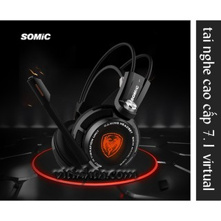 Tai nghe SOMIC G941 - Gaming headset 7.1 digital virtual hiệu ứng Rung, Led /  cổng USB - THComputer Q11