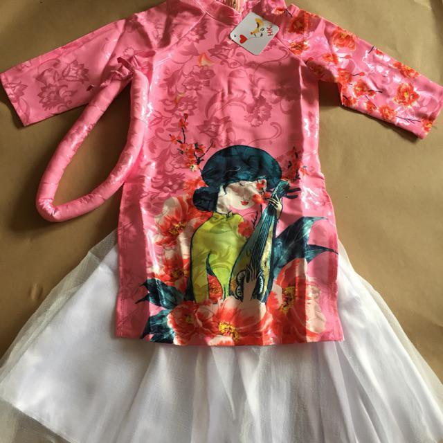 Set trang phục Áo dài cách tân cho bé gái từ 9-20kg hình cô Tấm đỏ,size 6 đỏ,size 7 đỏ,size 8 đỏ,size 9 đỏ,siz TJRYXDV9