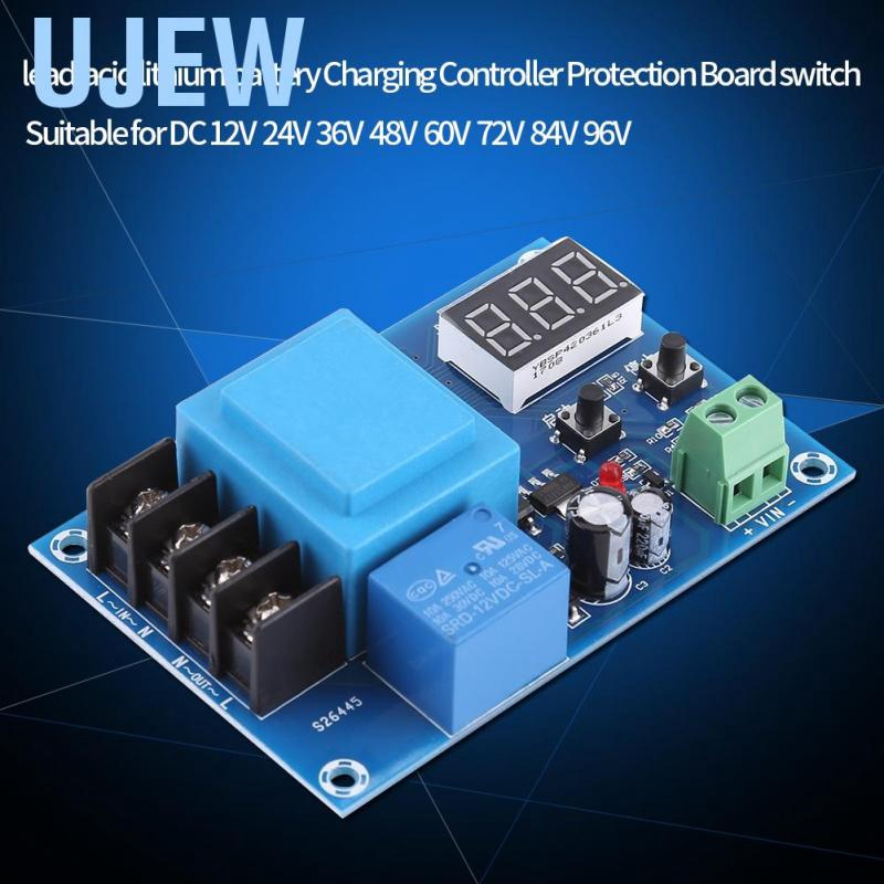 Ujew 220V Lead-acid Lithium Storage Battery Charging Controller Module Switch Protection Board