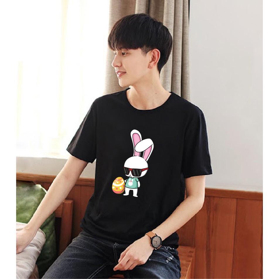 [New] Áo thun cotton unisex form suông rộng hoạt hình Thỏ mã 2020L0983 - áo thun chất, giá hs-sv