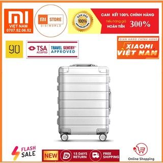 Vali Xiaomi Mi Metal Travel 90 Go Fun 20 inch / CARRY-ON LUGGAGE 20'' (SILVER)