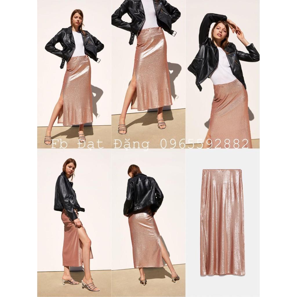 Chân váy đính kim sa Zara size S 7901/175