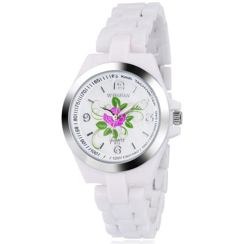 [Mã WTCHJAN giảm 20K ] Đồng hồ nữ Weiguan 613 dây giả đá (Trắng)