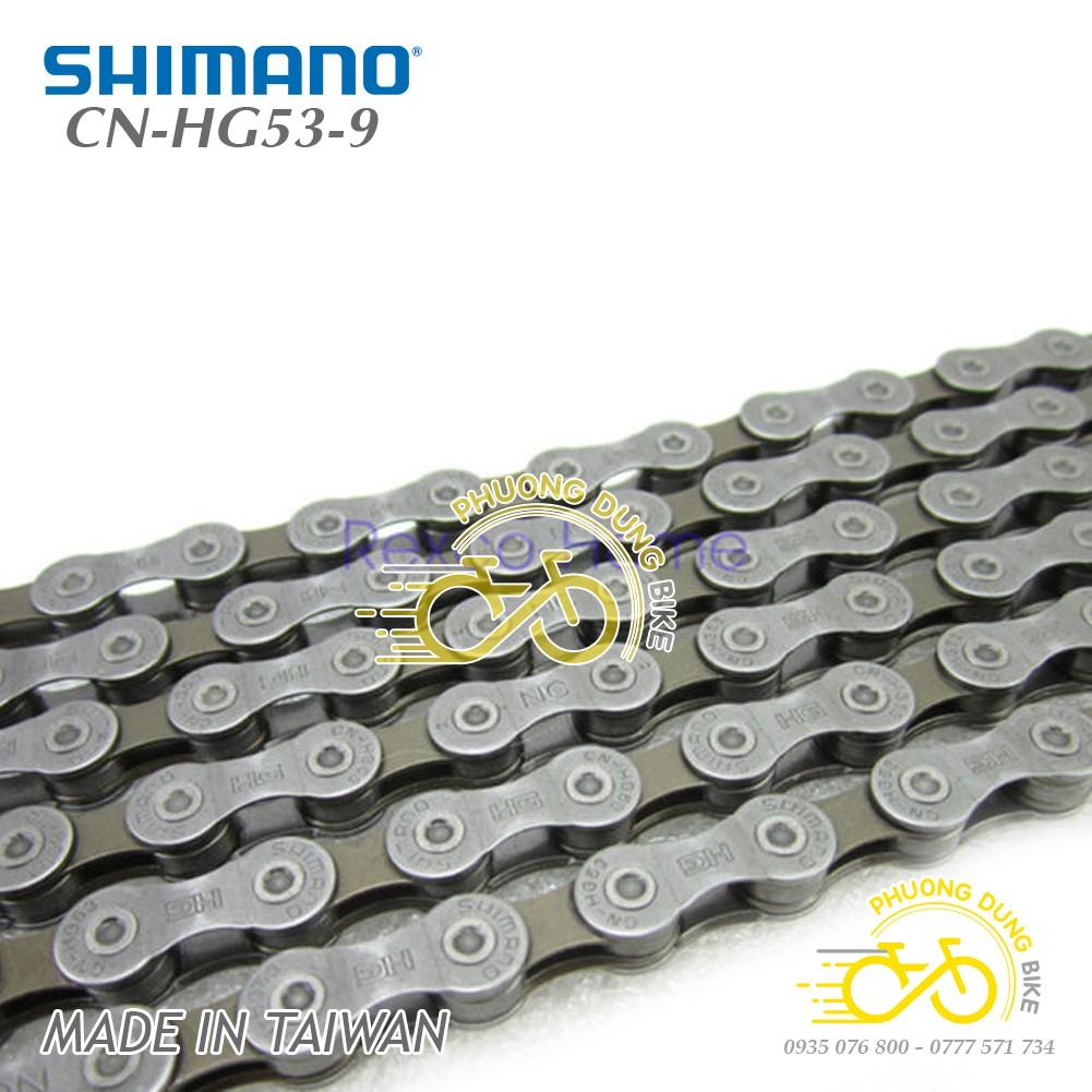 Xích sên xe đạp SHIMANO CN-HG53 9 Speed - Hàng chính Hãng
