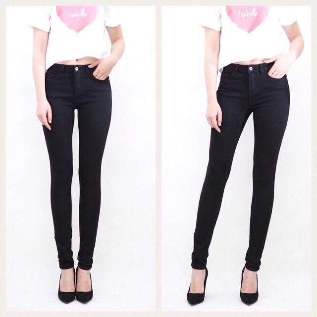 Quần jean skinny đen