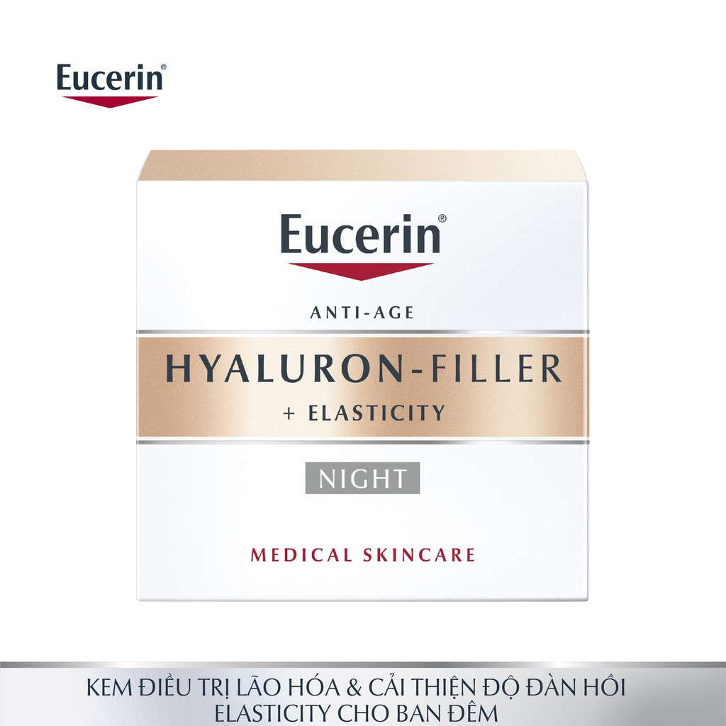 Kem Dưỡng Ban Đêm Giúp Ngăn Ngừa Lão Hóa Eucerin Hyaluaron- Filler Elasticity 50ml