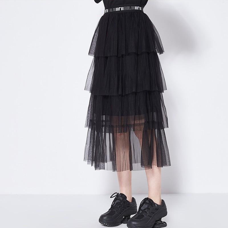 Chân Váy Lưng Cao Xếp Tầng Xinh Xắn Dành Cho Nữ 2020