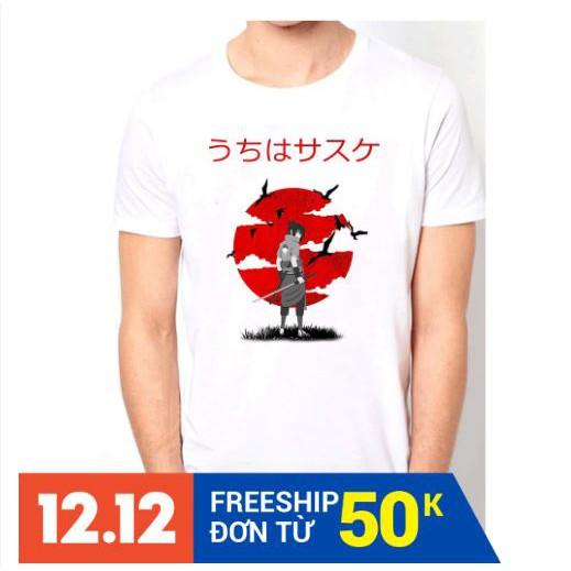 HOT  áo thun Sasuke Uchiha đẹp ⚡ FREESHIP ⚡Áo thun Naruto đẹp giá rẻ thời trang nam