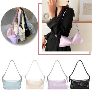 ki♦♦Women Travel Totes Shoulder Bag Leather Solid Color Casual♪
