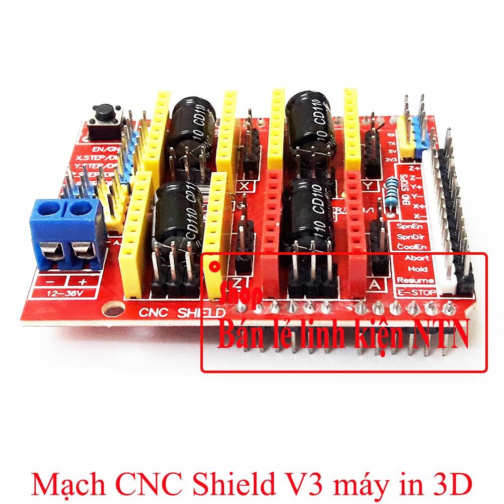 Mạch điều khiển CNC Shield V3 cho máy in 3D