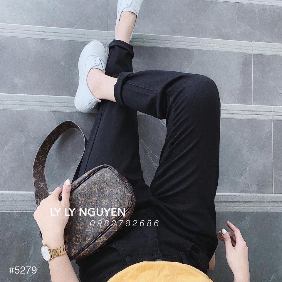 Quần jean đen trơn from boy chất siêu đẹp