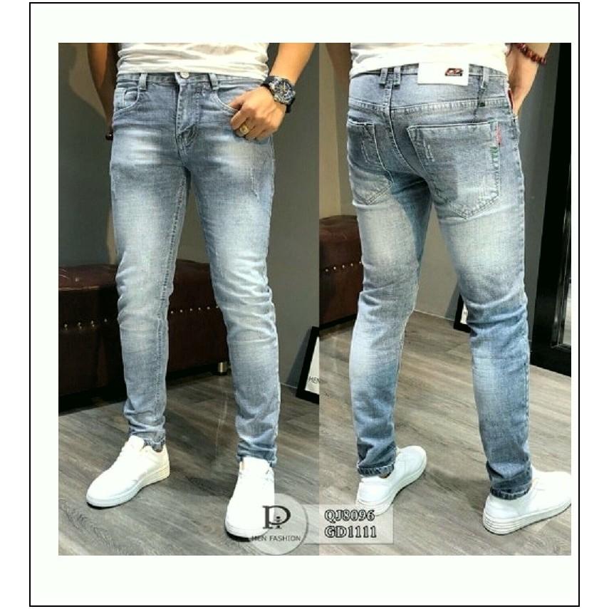 quần jean nam XANH BẠC (5678) chất jean giãn tốt PL2-2F11