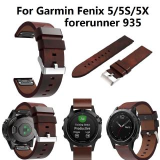 Genuine Leather Strap Watch Band with Quick Fit For Garmin Fenix 5 5S 5X Forerunner 935 Smartwatch