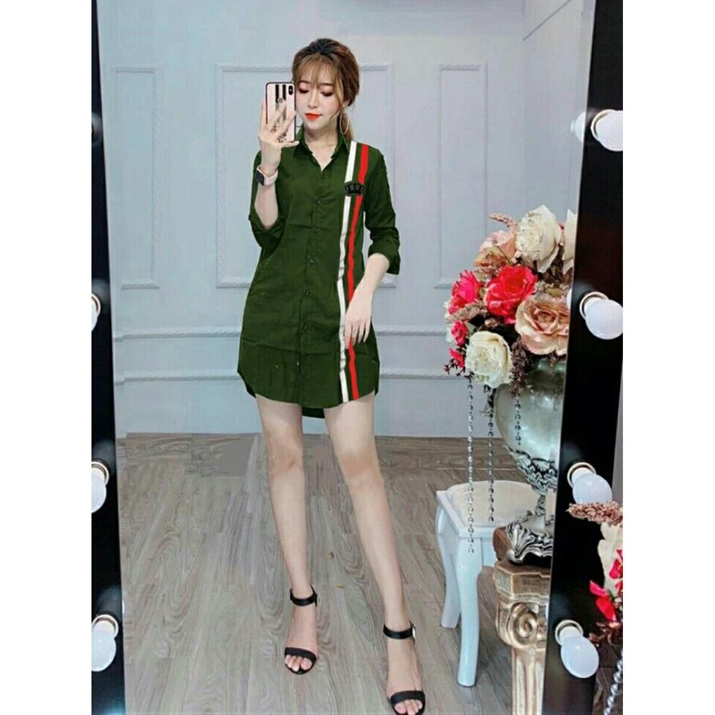 Sơ Mi Nữ Form Rộng Gỉa Đầm Thời Trang WM SOMI 800023