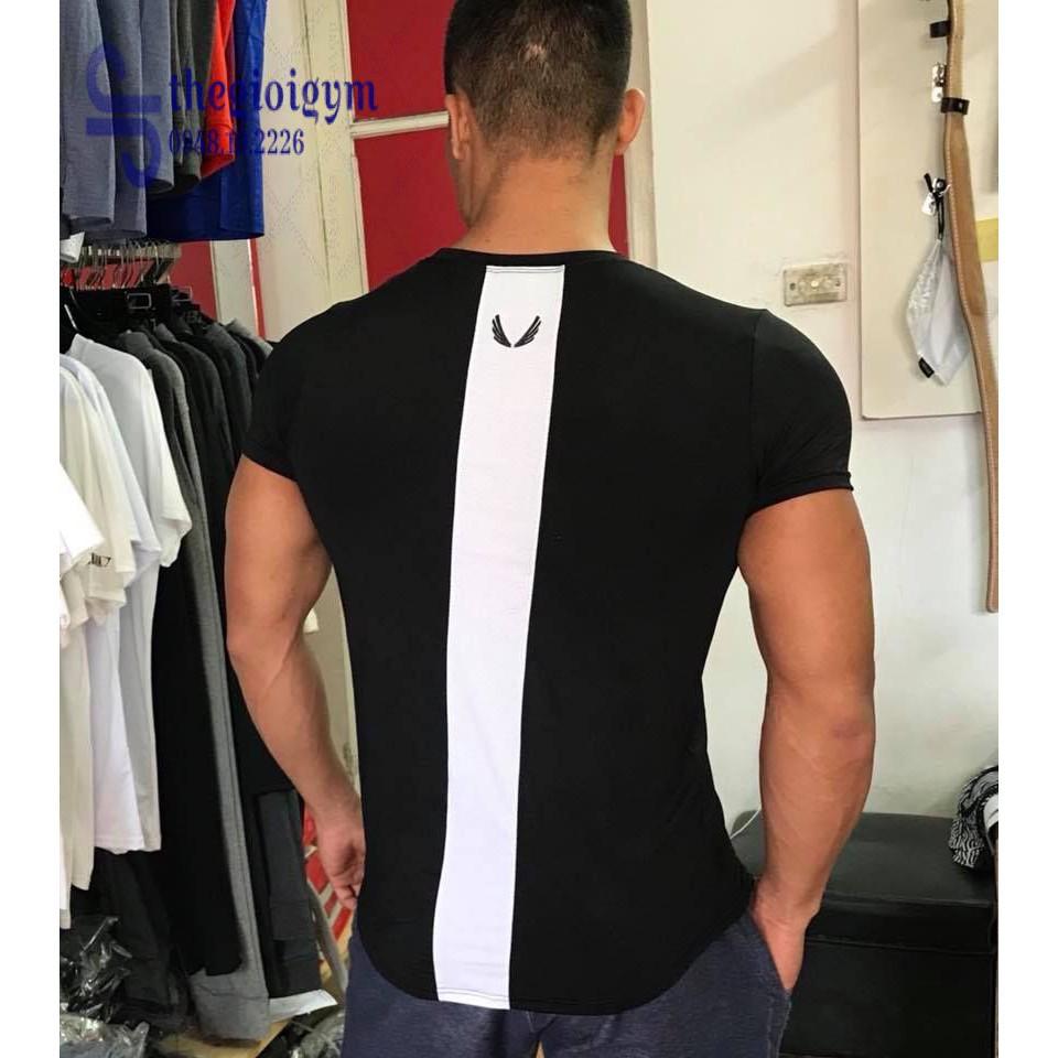 áo thun nam phối dọc lưng và sườn- mẫu hot 2018- kèm ảnh thật