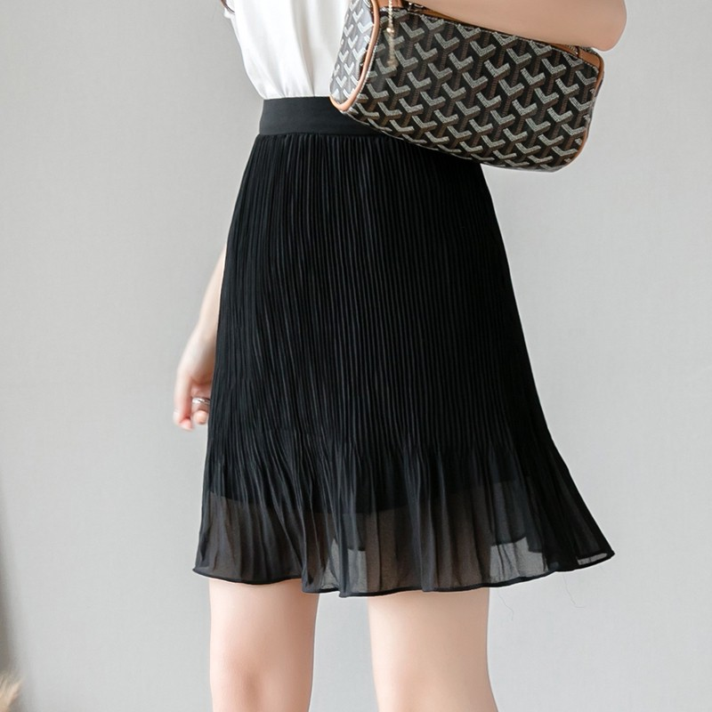 Chân Váy Đuôi Cá Vải Voan Lưng Cao Dáng Chữ A Thời Trang 2020