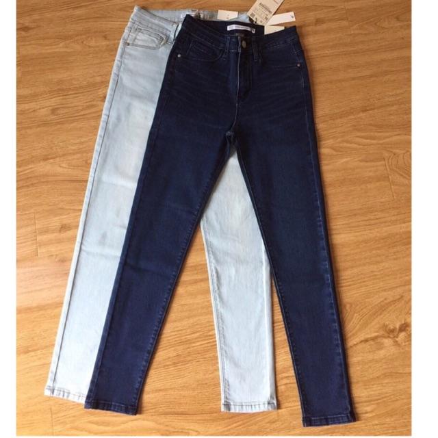 Jeans xuất khẩu trơn