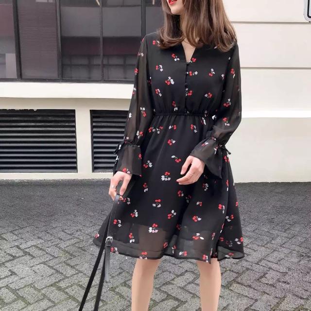 Váy voan cherry