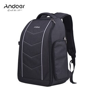 Ĩ Andoer Professional 600D Fabric Material Camera Backpack Bag for 2 DSLR SLR Cameras 6 Lenses Tripod Flash and Accessor