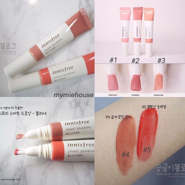 MÁ HỒNG KEM INNISFREE SMART DRAWING BUSHES