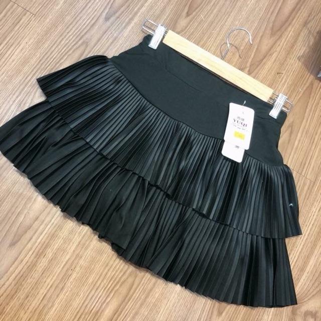 Chân váy 2 tầng xếp li