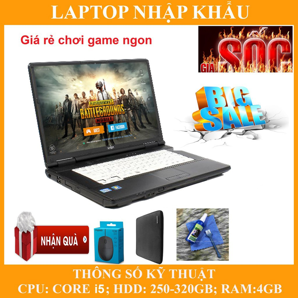 Laptop chơi game fifa 4, pubg mobile,  Core i5, RAM 4G, 250gb #0
